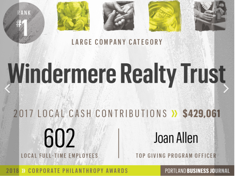 Jon Cohen is a broker at Windermere Realty Trust, Oregon's top corporate contributor.